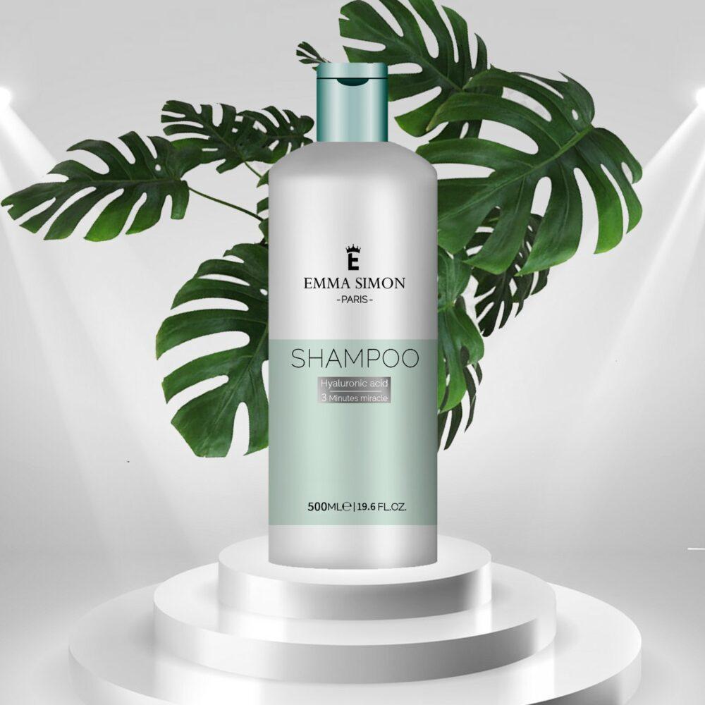 שמפו טיפולי לשיער יבש ופגום מעושר בקרטין וחומצה היאלורונית